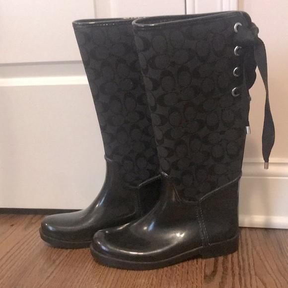 Coach Rainboots Black Size 8